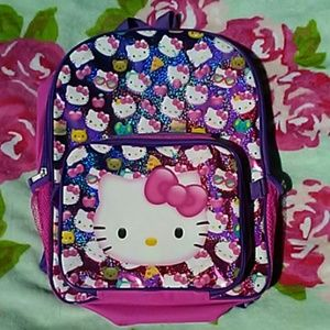 NWOT HELLO KITTY Holographic Backpack & Lunch Bag